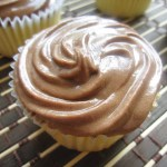 Vanilla Bean Cupcakes with Nutella Frosting