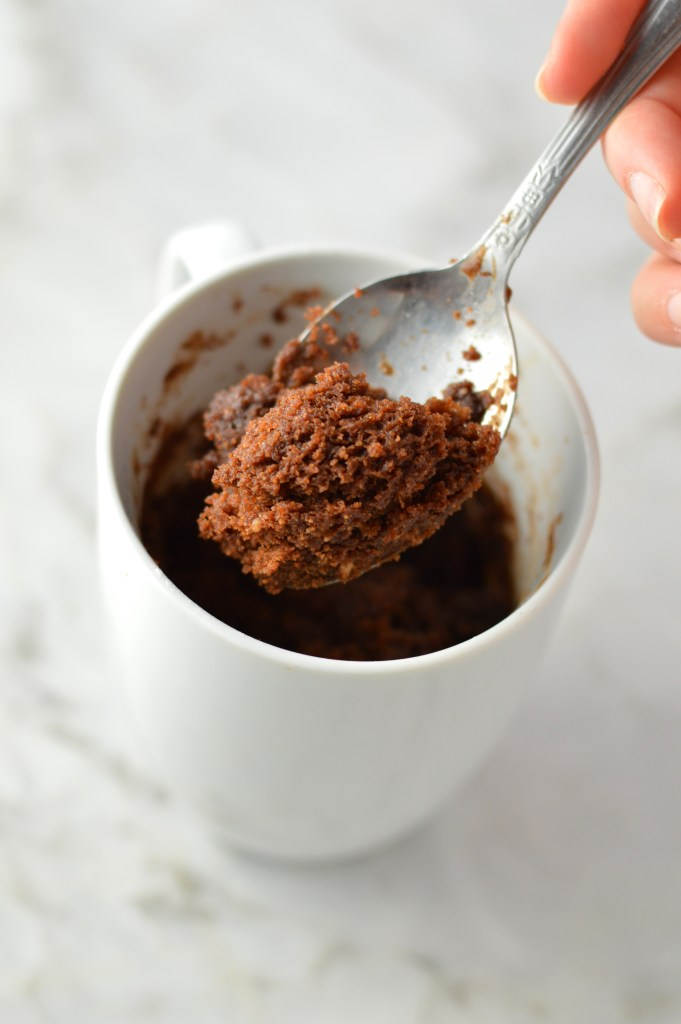 Four Ingredient Nutella Mug Cake A Taste Of Madness