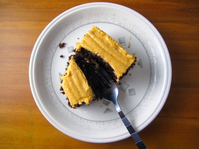 Whole Wheat Chocolate Cake with Orange Frosting