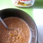 Peanut Butter Nutella Microwave Oatmeal