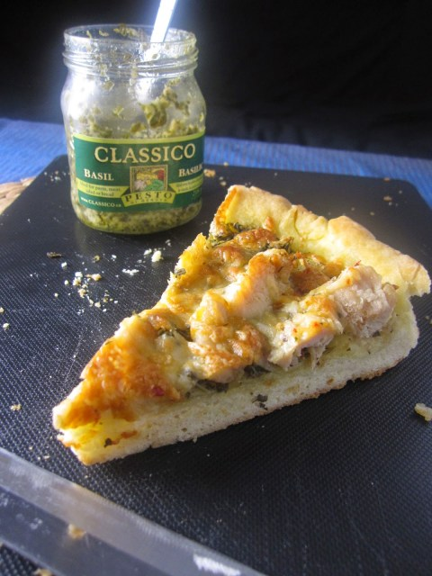 Pesto Chicken Skillet Pizza