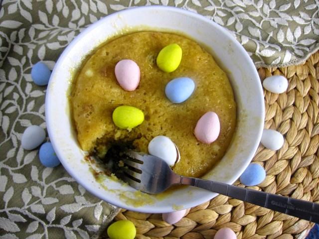 Peanut Butter Mini Egg Mug Cake