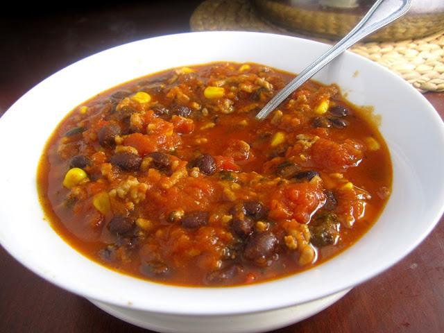 5 Ingredient Corn and Black Bean Chili
