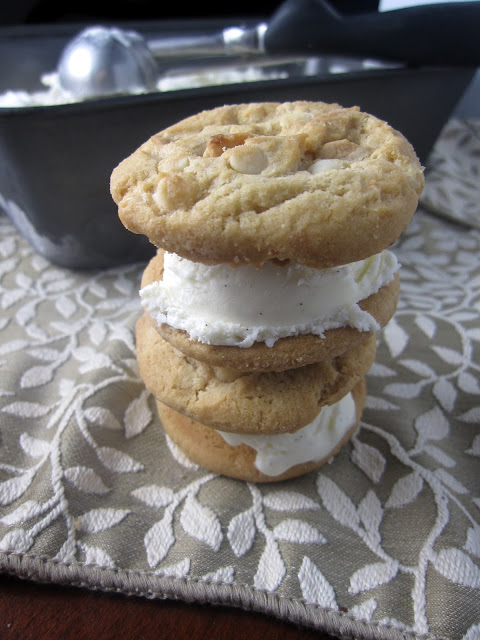 No Churn Vanilla Bean Ice Cream (Sandwiches)