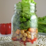 Romaine Lettuce and Chickpea Mason Jar Salad