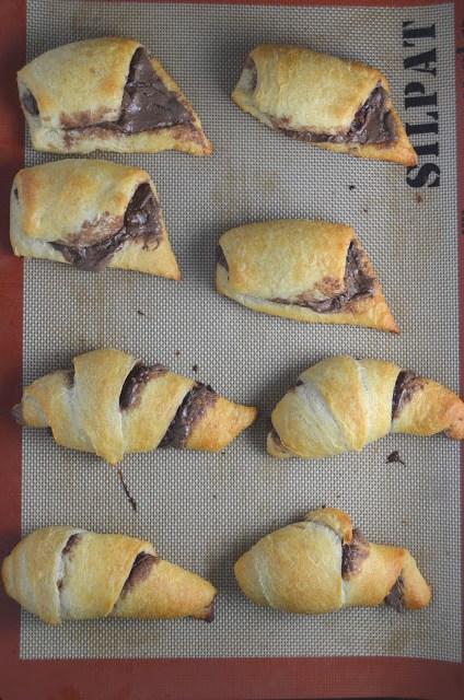 Easy Nutella Crescent Rolls