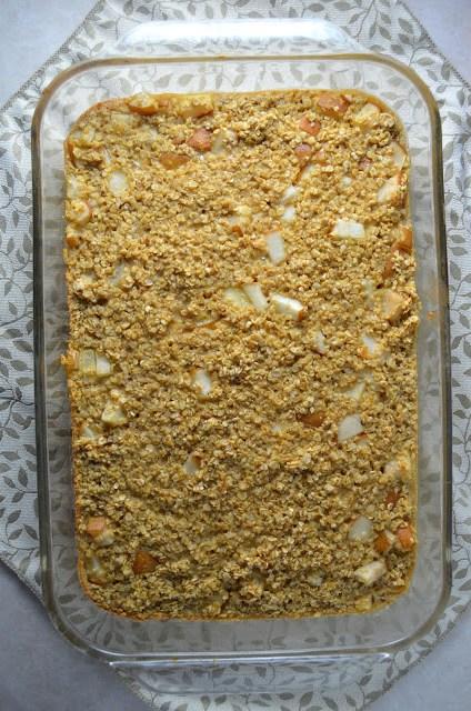 Ginger Pear Baked Oatmeal