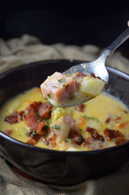 Ham, Cheese and Bacon Soup Recipe