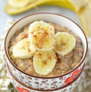 Banana Cinnamon Oatmeal