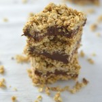 No Bake Peanut Butter and Chocolate Oat Fudge Bars