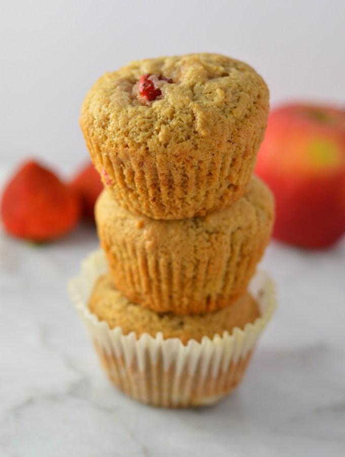 Strawberry Apple Muffins