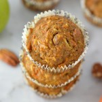 Carrot, Apple and Pecan Muffins