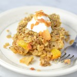 Ginger Peach Baked Oatmeal