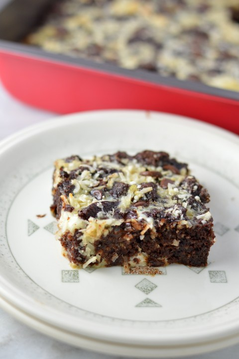 Leftover Brownie Bread Pudding