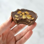3 ingredient Chocolate Peanut Butter Coconut Cups recipe makes for a quick and easy dessert idea. Made with coconut oil and topped with coconut chips,