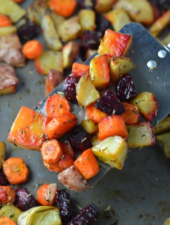 Roasted Potatoes, Carrots and Beets