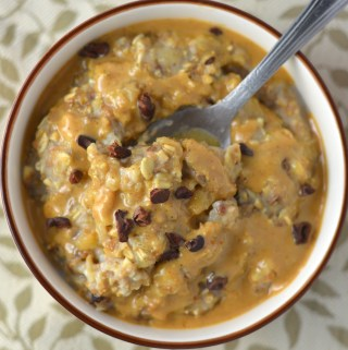 This Peanut Butter and Banana Oatmeal recipe is so easy to make and so filling too. This is a great breakfast idea for when you need to use up one ripe banana.