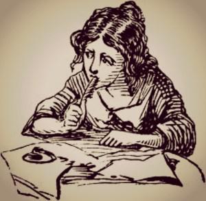 writing girl