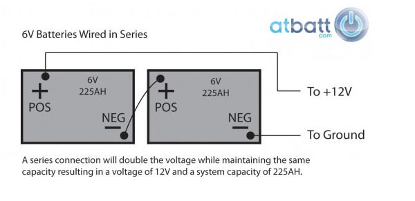 how to wire 6v batteries in series or parallel configuration