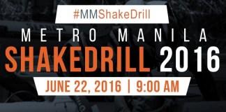 Second Shake Drill for Metro Manila