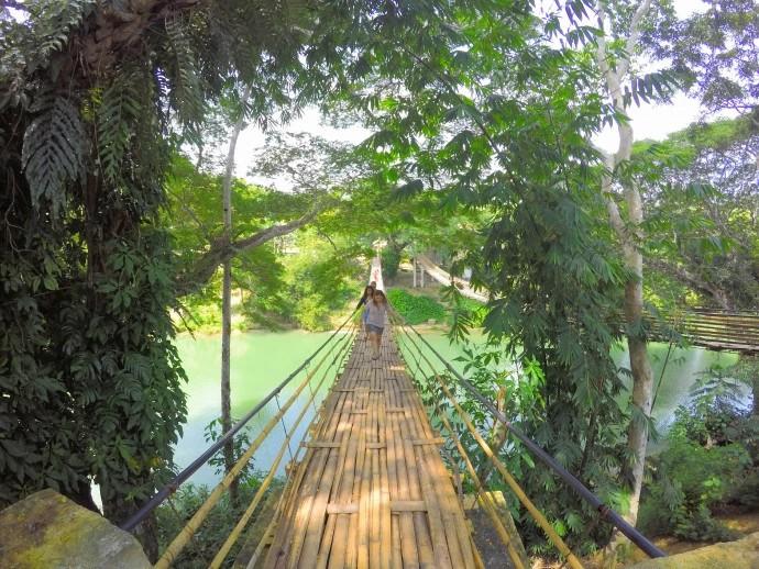 Bamboo Hanging Bridge, Bohol Philippines