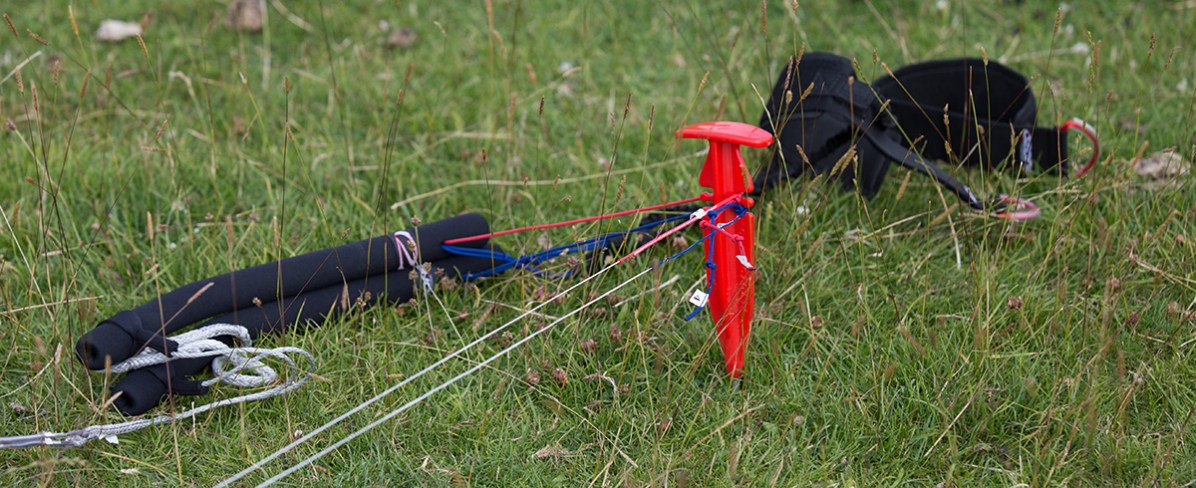 ATBShop - Learning To Power Kite - Brake Lines On Stake