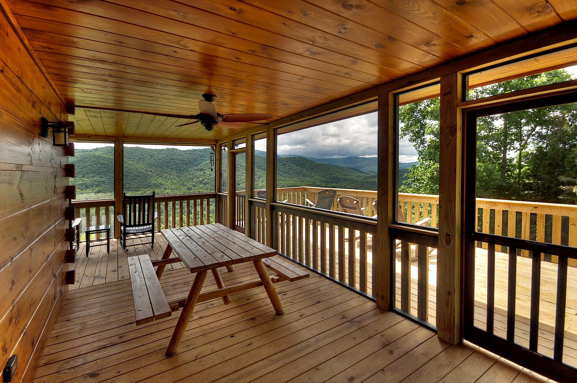 rocker outdoor chairs dolls high chair toys r us deck & porch tour   above the clouds cabin - blue ridge, ga