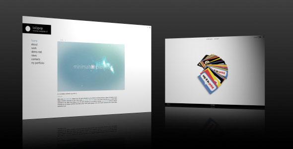 تحميل قالب Minimal XML فلاش مجانا لمواقع المصورين و المصممين