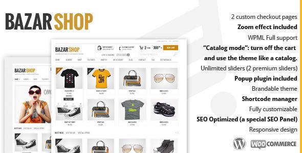 تحميل قالب Bazar Shop 2.6.4 مجانا ووردبريس للمتاجر الإلكترونية