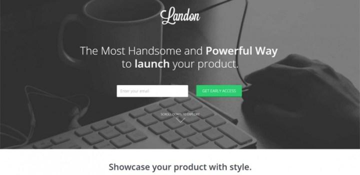 تحميل قالب Landon مجانا HTML للشركات