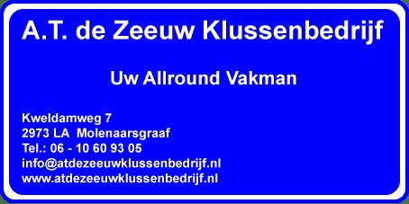 Logo AT de Zeeuw Klussenbedrijf
