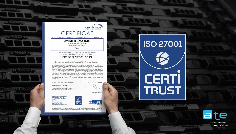 ATE obtient la certification ISO 27001