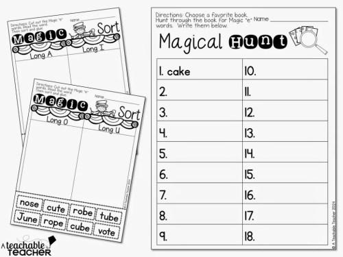 small resolution of Teaching CVCE with Magic E - A Teachable Teacher