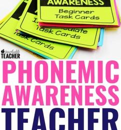 Phonemic Awareness Teacher Task Cards - A Teachable Teacher [ 1102 x 735 Pixel ]