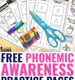 FREE Phonemic Awareness Worksheets - Interactive and Picture-Based [ 1102 x 735 Pixel ]