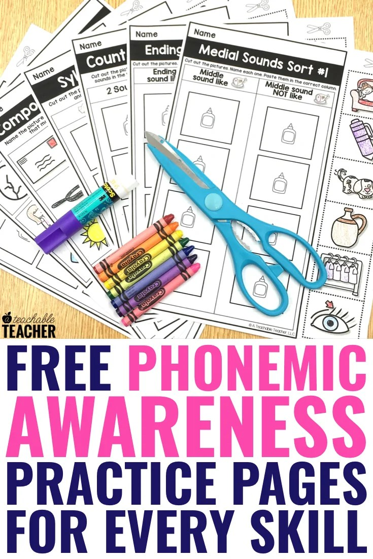 medium resolution of FREE Phonemic Awareness Worksheets - Interactive and Picture-Based