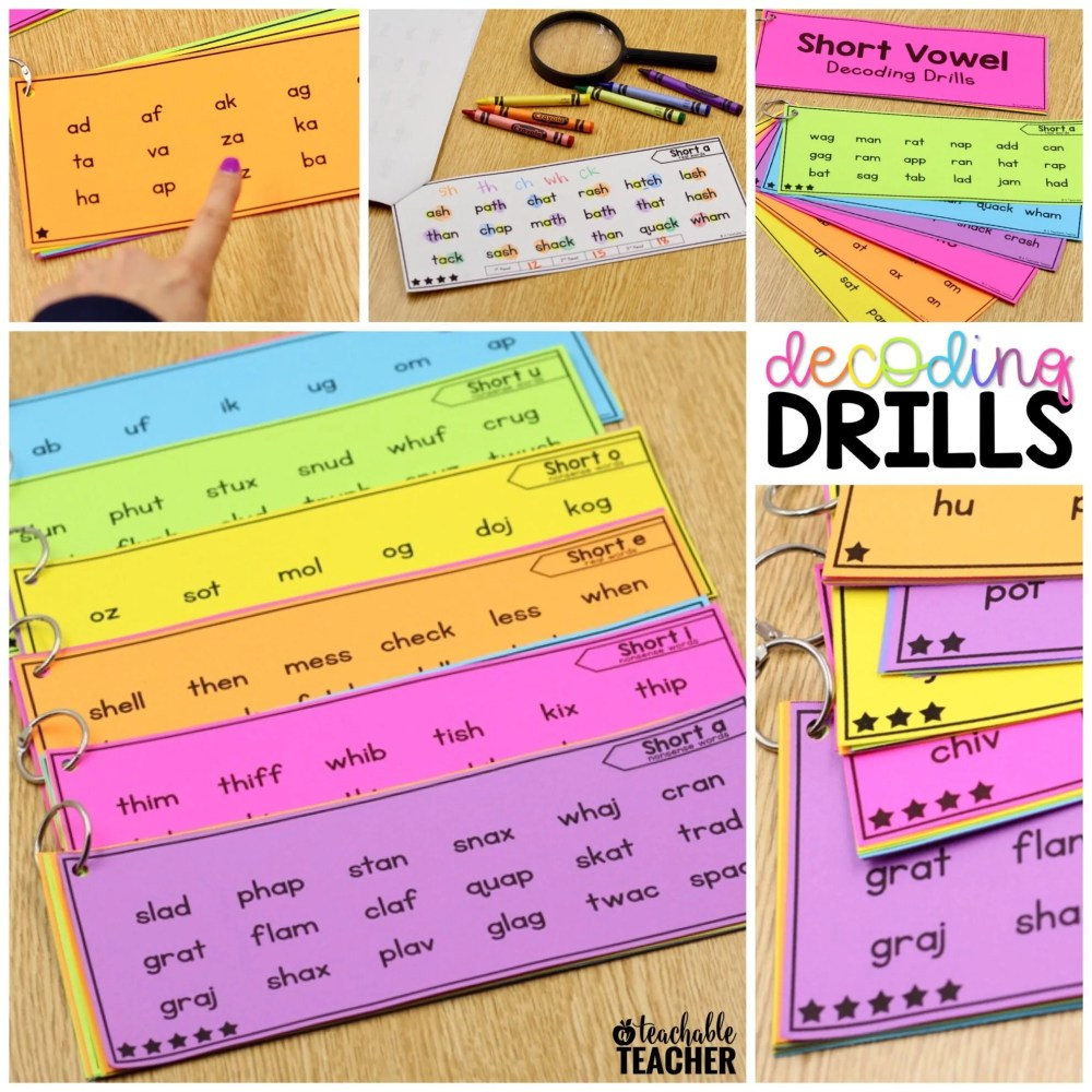 medium resolution of Decoding Drills for Building Phonics Fluency - A Teachable Teacher