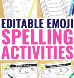 Editable Spelling Word Worksheets for ANY Word List! [ 1102 x 735 Pixel ]
