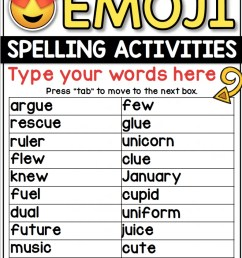 Editable Spelling Word Worksheets for ANY Word List! [ 1024 x 791 Pixel ]