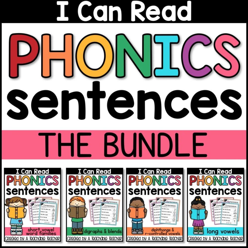 medium resolution of FREE Phonics Sentences Activities to Build Mastery and Fluency