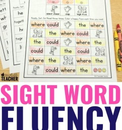 The Best Sight Word Fluency Worksheets of All Time - Editable! [ 1102 x 735 Pixel ]