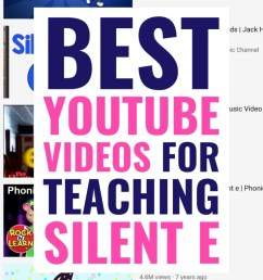 The Best Videos to Teach the Silent E [ 1102 x 735 Pixel ]