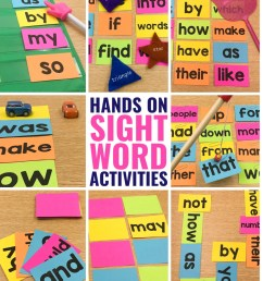 10 Hands-On Sight Word Activities that Your Students will BEG to do! [ 1350 x 1080 Pixel ]