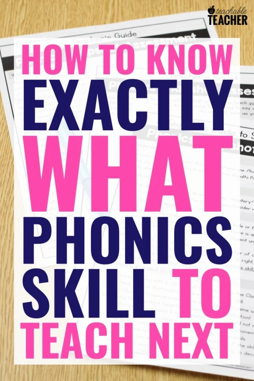 small resolution of FREE Phonics Assessment: How to Know Exactly what to Teach Next