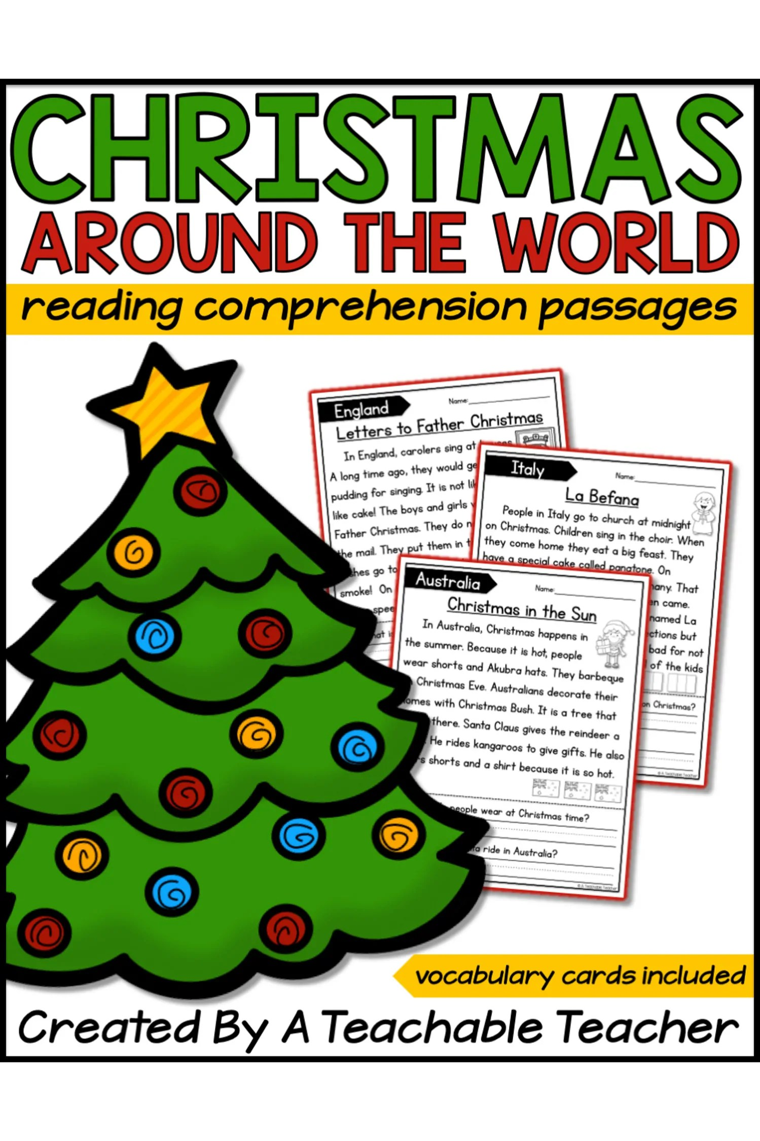 hight resolution of Christmas Holidays Around the World Reading Passages - A Teachable Teacher