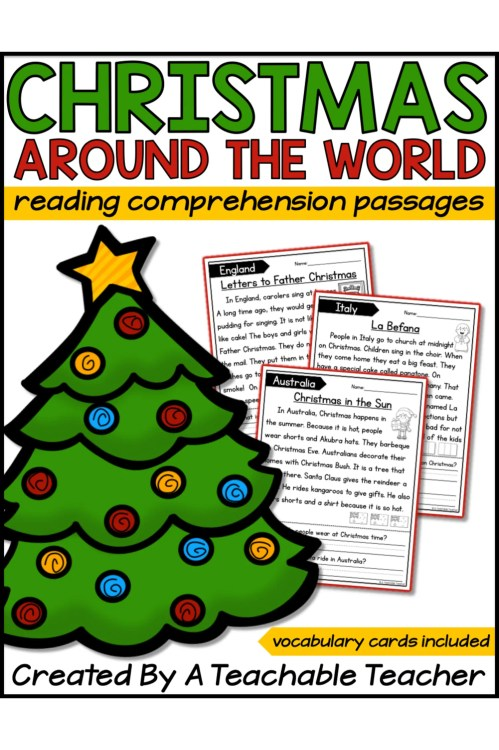 small resolution of Christmas Holidays Around the World Reading Passages - A Teachable Teacher