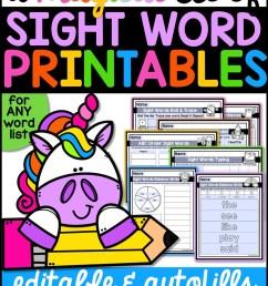 A Magical Set of Sight Word Printables - A Teachable Teacher [ 2249 x 1499 Pixel ]