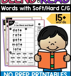 Blend and Read - Words with Soft/Hard C/G - A Teachable Teacher [ 2249 x 1499 Pixel ]