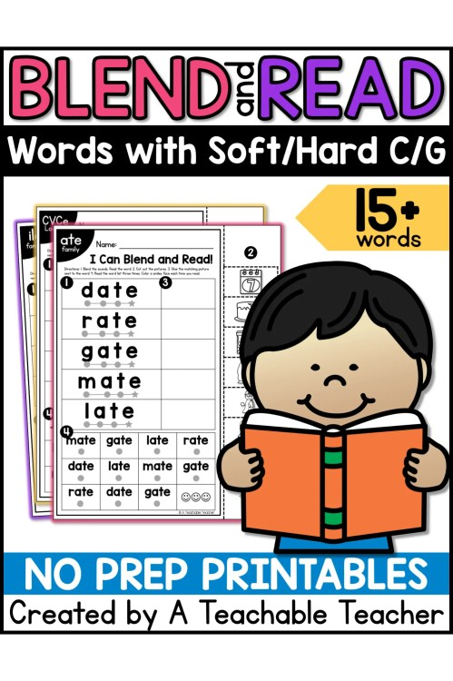 small resolution of Blend and Read - Words with Soft/Hard C/G - A Teachable Teacher