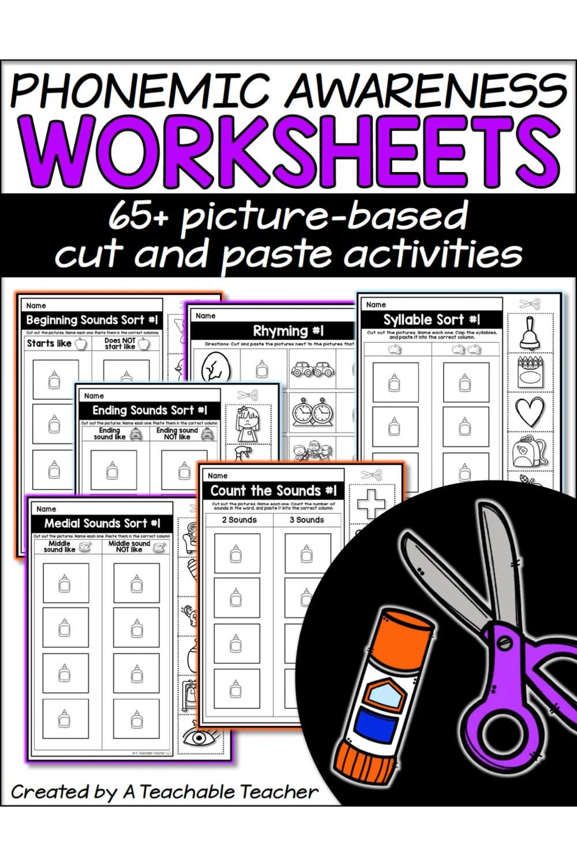 medium resolution of Phonemic Awareness Worksheets - A Teachable Teacher